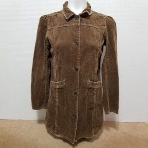 Xhilaration coat XL 14/16 corduroy trench long Y2K